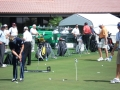 1.5 Luke Donald putting amongst the gadgets and equipment on PPG 2008 Honda Classic