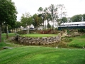 2008 Ryder Cup Valhalla 20.21 13th green raised island stone wall