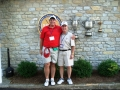 2008 Ryder Cup Valhalla 20.36 Andy w Sir Walter PGA trophies