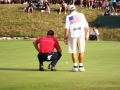 2008 Ryder Cup Valhalla 20.48 Furyk w Fluff on way to victory for USA over Jimenez think 16 hole
