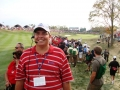 2008 Ryder Cup Valhalla 20.53 Andy w Celebration down fairway after Furyk defeats Jimenez think 16 hole