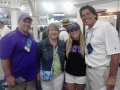 Andy Reistetter W LSUs Alex Babcock & parents Pamela & Tom US Open 6-15-12