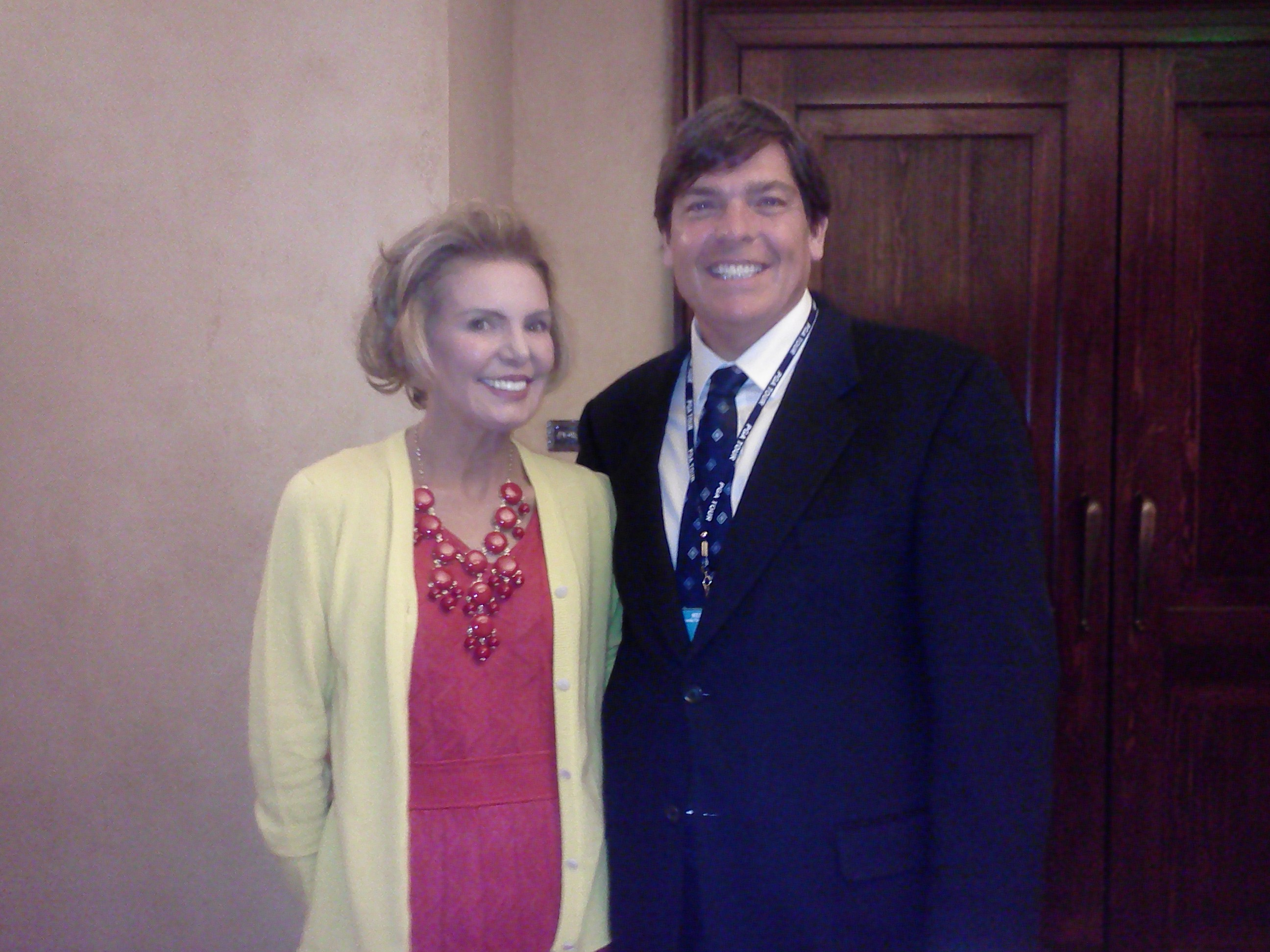 _Andy Reistetter w Lesley Vissser keynote Speaker Executive Womens Day TPC PLAYERS Mon 5-6-13