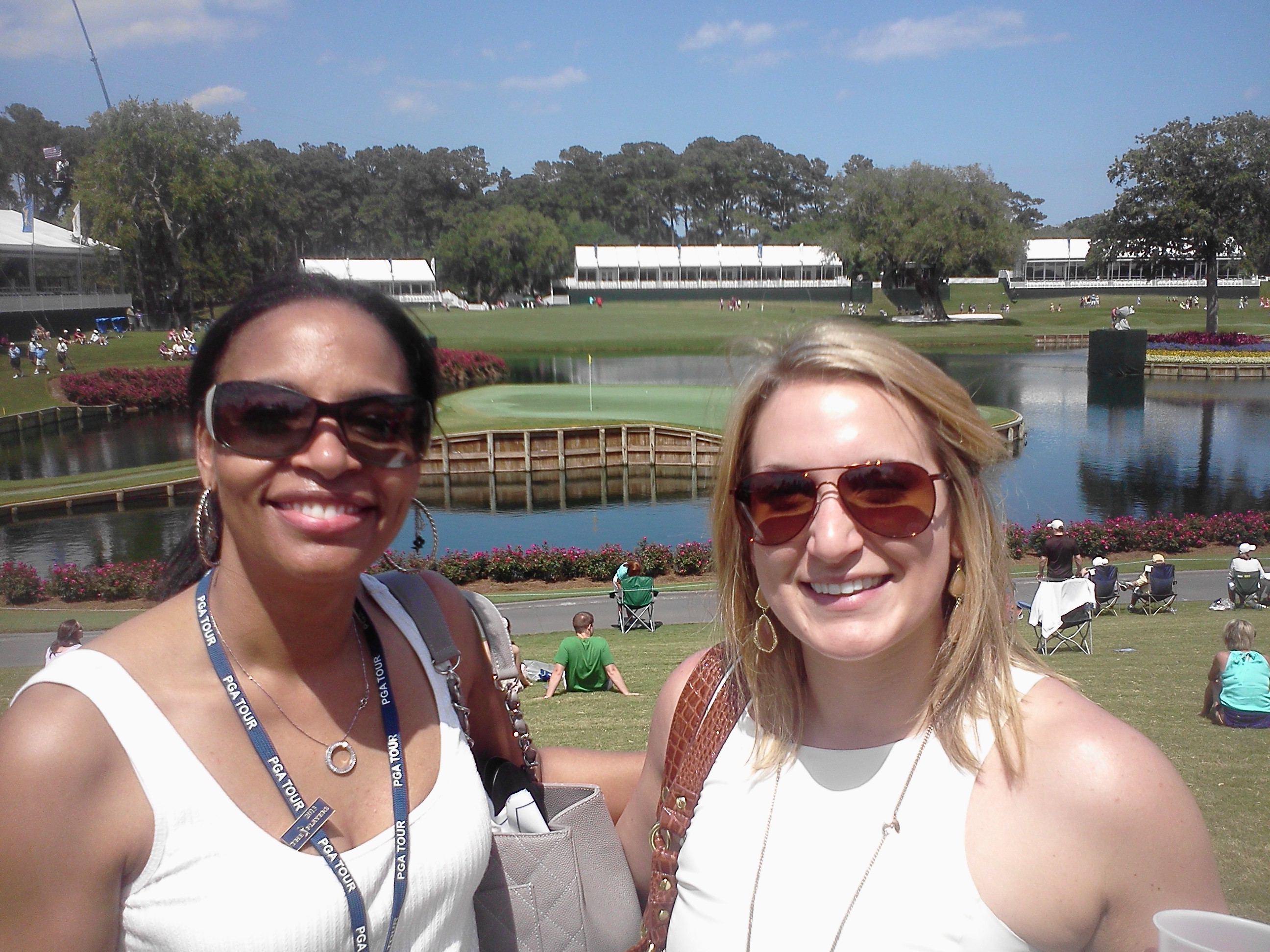 _Astellas Pamela & Katie 17th TPC Sawgrass Wed 5-8-13 PLAYERS