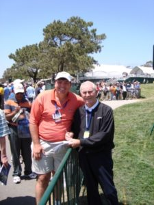 "The 2008 US Open was the first time I met 1955 US Open Champion Jack Fleck. The last visiting him in Fort Smith, AK on the ""Journey to Olympic Golf."""