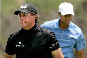 Mickelson Tiger 2009 WGC CA Rd 2
