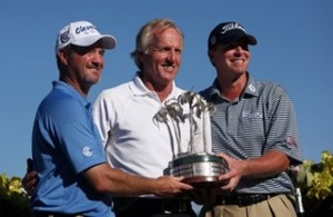 Wisconsin buddies Jerry Kelly and Steve Stricker went on to win Greg Norman's Shark Shootout later in the year in 2009. Photo Credit: Google Images