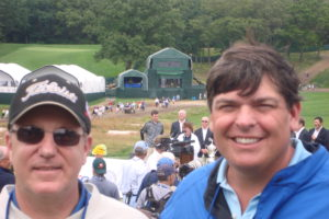 Enjoying the 2009 US Open with my brother-in-law Bob!