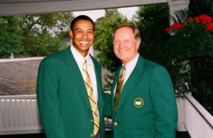 Tiger & Jack, both Masters Champions but Jack has 18 majors and Tiger only 14 and that hasn't changed in the last 8 years! Photo Credit: GolfPunkHQ