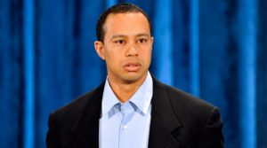 Tiger Woods on February 19th, 2010 making his apology speech in teh Sunset Room at TPC Sawgrass.