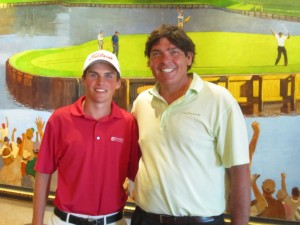 With Gavin Hall the 2011 Jr. PLAYERS Champion at TPC Sawgrass.