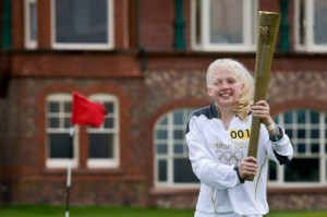 The Olympic Torch touched golf in the UK in 2012. Golf will be an Olympic Sport in 2016.   Photo Credit: LOCOG/Getty Images