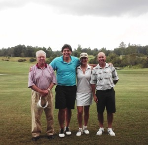 Our foursome (Left to Right)- Dr. Bill Bridges, Andy & Merri and Steve Berger.