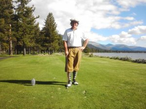 Mr. Hickory Golf at the par-3 17th at Edgewood Tahoe.