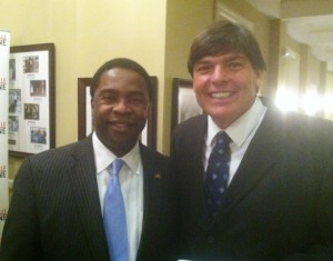 With Jacksonville Mayor Alvin Brown.