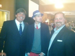 With Jarrad Kogos (hat) and Cole Pepper (right).