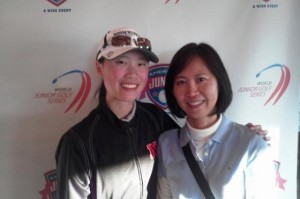 Seattle's Marianne Li and her mother Eru are all smiles after a wonderful experience at the Hall of Fame.