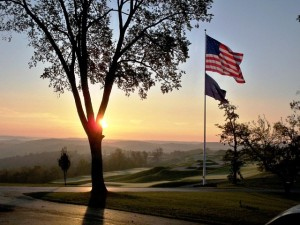 """Pete Dye designed in """"the long view"""" at French Lick and it is spectacular!  PHOTO CREDIT: Dave Harner"""