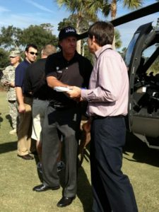 Great to meet Phil Mickelson on this grand ocassion!