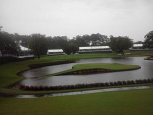 In 2013 before THE PLAYERS the 17th island green was truly an island!