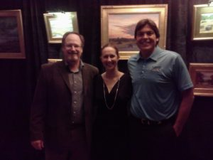 Artist Will Dickey, Unity Plaza Jacksonville's Jen Jones and yours truly.