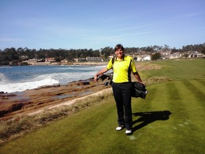 The home hole playing Pebble Beach... I felt like I was home for sure...