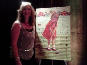 Lady Artist from Pebble Beach Suzanne McCourt, the little girl in the red dress!