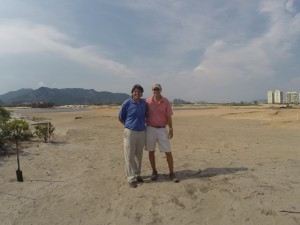 With Gil Hanse in January 2014 on what was then a well-designed sand box. Truly a life experience to come back 2-1/2 years later to see the golf course completed and witness the 2016 Golf Olympics!