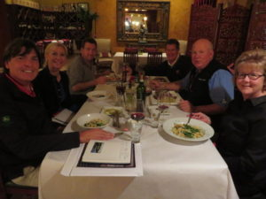 Dinner at Fresco 1 with Merri Daniel, , Joe Stine, Ken May, and Ann & Perry Dye!