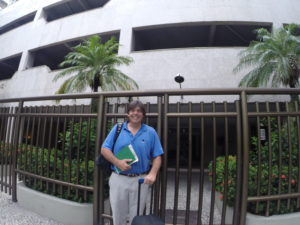 Outside my home in the Gavea neighborhood in Rio. Note the absence of golf clubs which I donated to junior golf before I left.