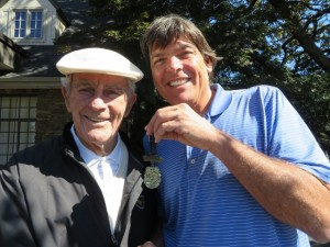 With Jack Fleck and his Olympic Gold Golf Medal.