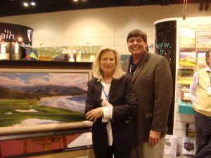 With Linda Hartough at the 2010 PGA Show.