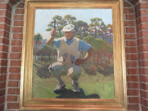 Portrait of Jim Ferree in the Jim Ferree Room at Long Cove Club.