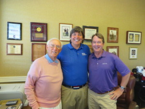 With Mr. Jim Ferree and Head PGA Golf Professional Bob Patton.