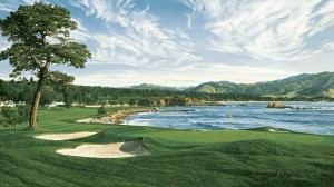 One of Linda's favorites is the 18th at Pebble Beach. From 1992 the year Tom Kite won. Image is property of and used with permission of Linda Hartough.
