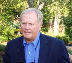 Jack Nicklaus in 2008 after accepting the PGA TOUR's Lifetime Achievement Award and hearing Tiger's words that he will forever be the all-time greatest golfer!