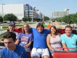 My seat between parents Sandy & Terry and newlyweds Kelsey & Derek.
