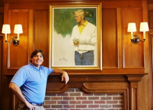 Scioto CC oozes golf history. Here in the Clubhouse in the Jack Nicklaus Room.