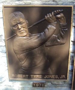 Bobby Jones' plaque in the Memorial Garden at Muifield Village. It is not a coincidence that Bobby Jones was in the inaugural Honoree at Jack's first Memorial Tournament in 1976.