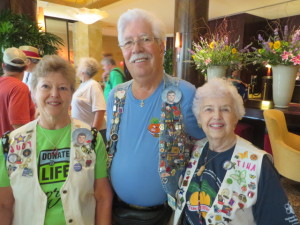 Heart Recipient Joe Stott with his wife Judy (left) and her mother Tina (right).