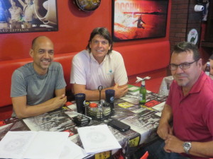 With Pedro Amengual, Marketing Director (Left) and Alvin Irizarry, Associate Producer of the Island Chapter, South Florida Section of the PGA of America/