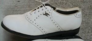 One of Bobby Clampett's 'BC' Endicott Johnson spikeless shoes sold on EBAY.
