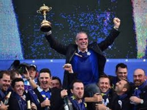 Captain Paul McGinley and the European Ryder Cup team celebrate another victory!