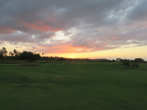 Did I mention the sunsets on the links were spectacular and romantic for an evening walk upon arrival?