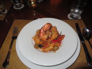 Two massive shrimp make a meal!