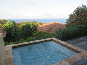 Plunge pool with an ocean view in each casita!