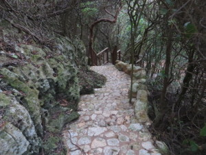 The quality of the stonework on the path to the beach was of 'Isabela Quality.'