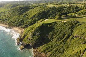 Aerial view of 17th green. Photo Credit: Royal Isabela (I can't get as high as John Denver!).