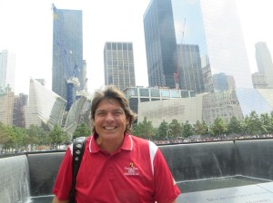 Smiling, it was a beautiful day to be alive and in lower Manhattan to visit the National September 11 Memorial and Museum.