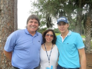 With No. 1 golfer Carlos Ortiz and his mother 'Chela.'